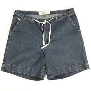 Merona Shorts Size 14 Medium Wash With Pockets